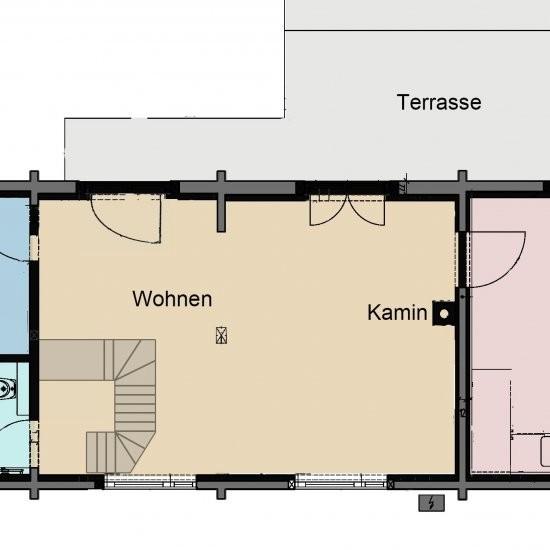 Ferienhaus »Scheune« - Grundriss Erdgeschoss