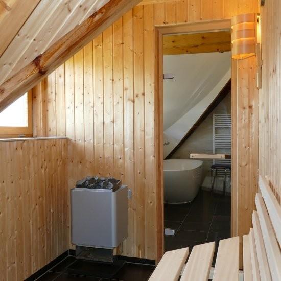 Holiday house »Haus anno 1750« - Unsere Sauna für Ihr Wohlbefinden