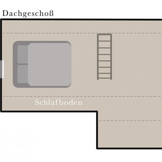 Ferienhaus »Bienenhaus« - Grundriss Schlafboden