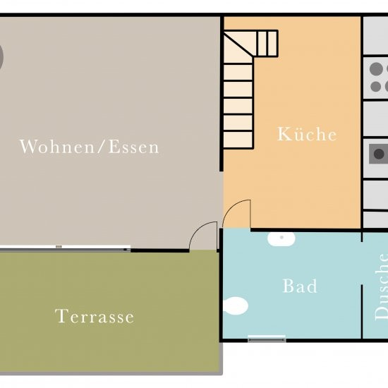 Ferienhaus »Bienenhaus« - Grundriss Erdgeschoß