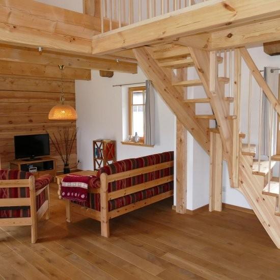 Ferienhaus »Scheune« - Blick in den Wohnbereich