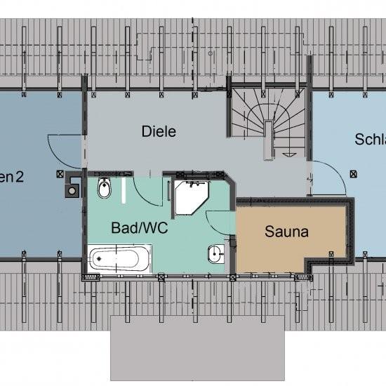 Ferienhaus »Haus anno 1750« - Grundriss Dachgeschoss